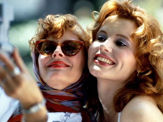 Susan Sarandon and Geena Davis in Thelma and Louise.