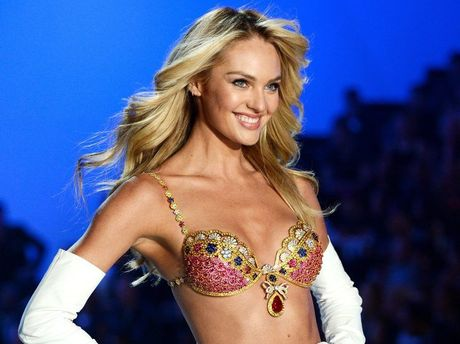 Candice Swanepoel walks the runway wearing the $10 million Royal Fantasy Bra during the 2013 Victoria's Secret Fashion Show.