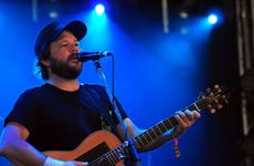 Tom Busby of Rockhampton duo Busby Marou performs at The Grande at the Woodford Folk Festival. Photo Seanna Cronin / APN