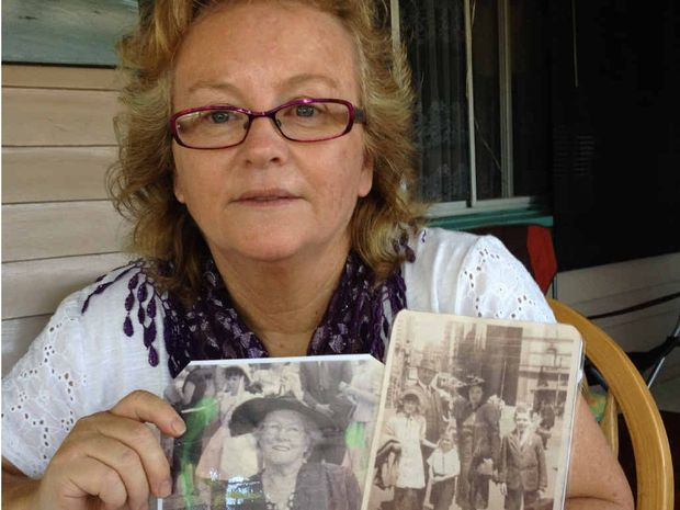 LOST AND FOUND: Forced adoption victim Kerri Saint only met her father's side of the family on Sunday.