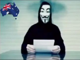 Anonymous Brisbane posted a video on YouTube calling for the release of the Yandina Five.