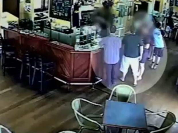 CCTV footage from the Yandina Hotel.