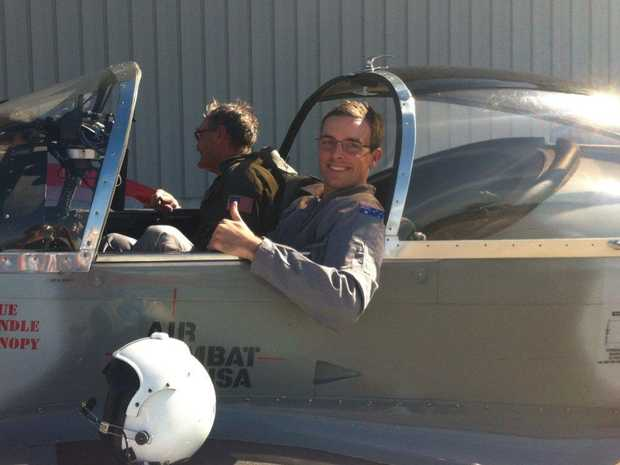 Tim Gibson prepares for flight training at the Lynx Space Academy in Florida.