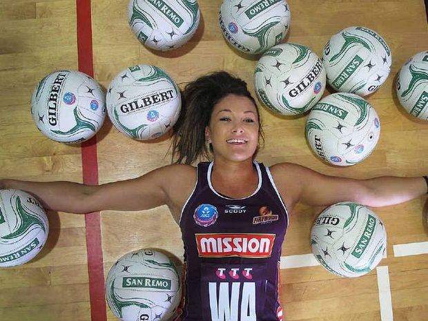 READY TO ASSIST: Grafton's Verity Simmons is looking forward to a successful 2014 with the Queensland Firebirds. PHOTO: CONTRIBUTED