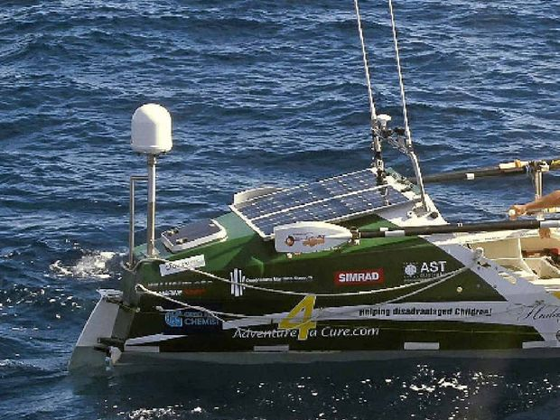 LONG HAUL: Andrew Abrahams is rowing across the Atlantic Ocean from Africa to the West
