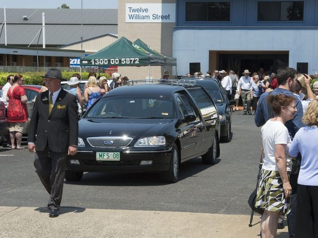 The funeral service for mum and daughter Noelene and Yvana Bischoff in Gatton.