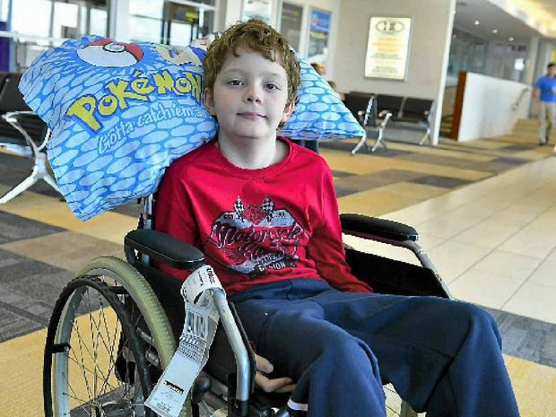 FIGHTER: Eleven-year-old Mitchell Luders before his Japan trip.