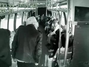 Macklemore performs on bus