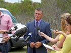 Tweed/Byron LAC commander Stuart Wilkins breaking the bad news during a press conference.