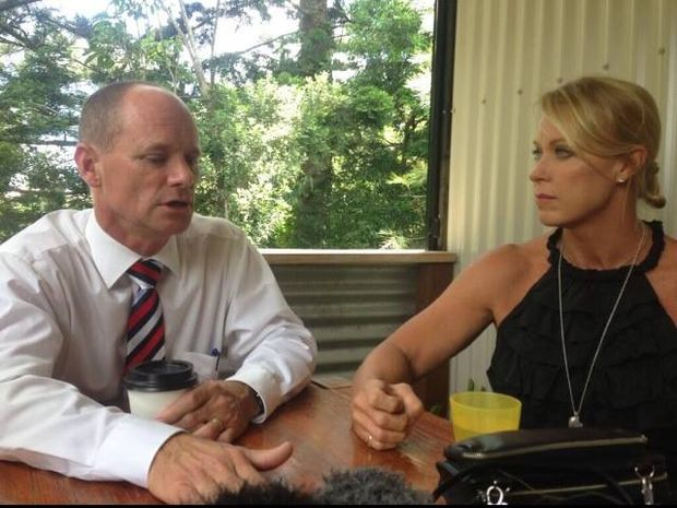 Premier Campbell Newman meets with Lisa Curry about violence. Source: Facebook