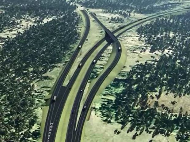 An artist's impression of the Toowoomba Second Range Crossing.