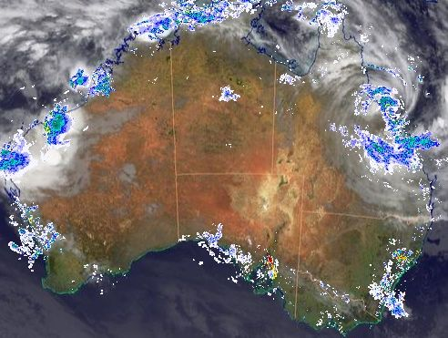 The current radar image for Tropical Cyclone Dylan.