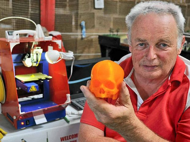 WAY OF THE FUTURE: 3D printer owner Bob Claydon.