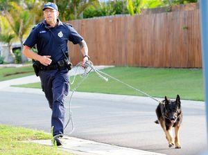 Dog squad tracks man down, found lying in grass