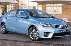 The new Toyota Corolla sedan.
