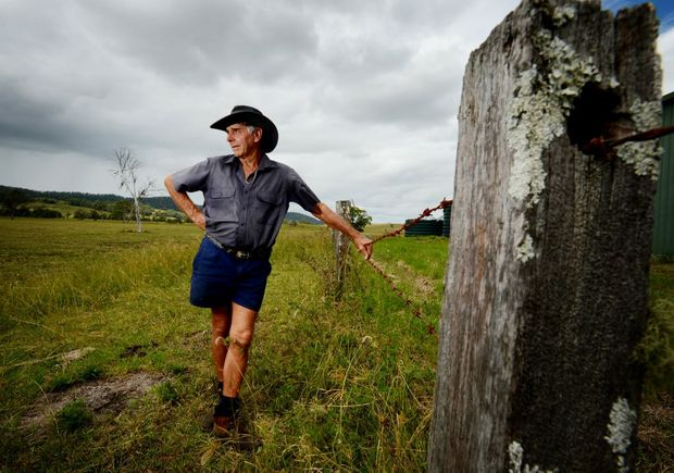 Local farmer Robert Graham on his Bentley property where drilling will be conducted. Photo Patrick Gorbunovs / The Northern Star