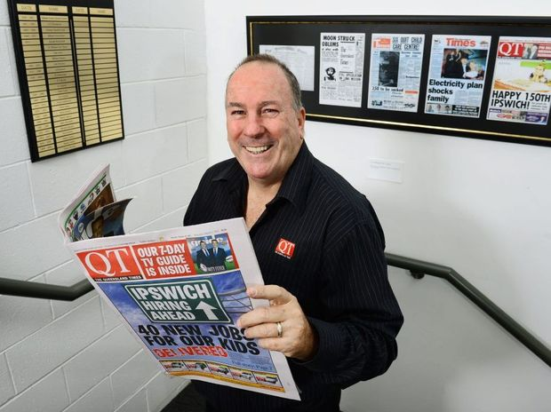 The Queensland Times Editor Peter Chapman.