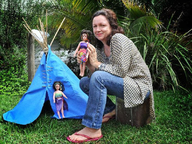 ANTI-BARBIE: Pictured is Lee Ducan at The Channon with her Feral Cheryl dolls.