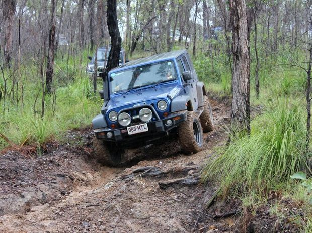 OFF ROAD: Bundaberg 4WD Club trekking through Littabella National Park. Photo: contributed