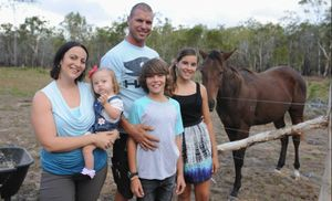 Josee Kelly with her mum Joelle, dad Lewis, brother Max, 10, and sister Tallara, 12.