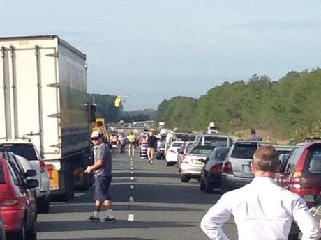 Two crashes have closed the Bruce Hwy southbound at Bells Creek.