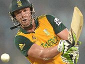A BRILLIANT knock of 69 off 29 balls by South Africa's AB de Villiers knocked England out of the Twenty20 World Cup in Bangladesh.