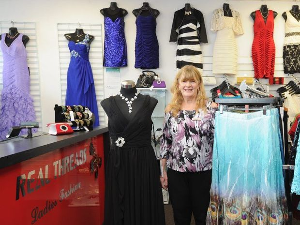 Real Threads owner Vicki Connolly says setting up a second store at Eli Waters was hard work but public support has been terrific.