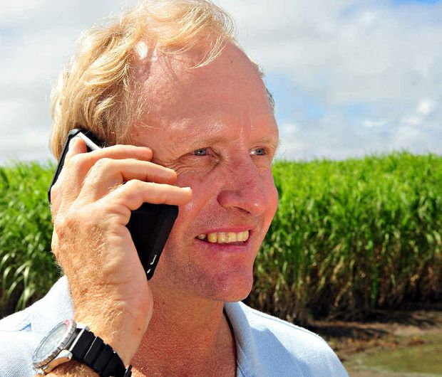 MODERN FARMING: Jeff Plath records data needed to be part of the bigger agricultural picture.