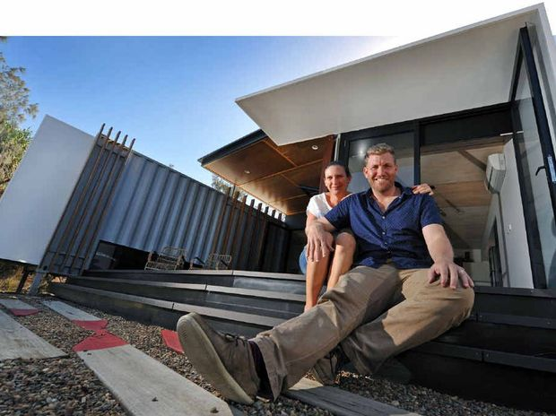 John and Rochell Robertson's Buddina home built from shipping containers won the major prize at the 2014 Sunshine Coast Regional Architecture Awards.