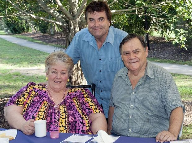 uthor of the poem Babes of Walloon, Judith Baker, with Cr David Pahlke and Matt Foley at the competition launch.