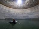 LNG tank hydro test time lapse
