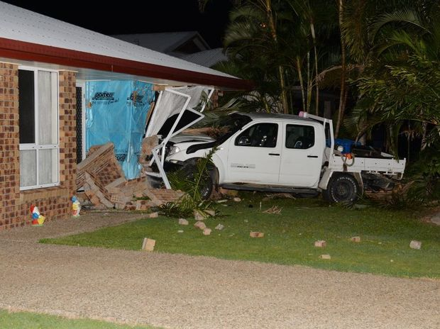 Car into house on Norris Road, Mackay.
