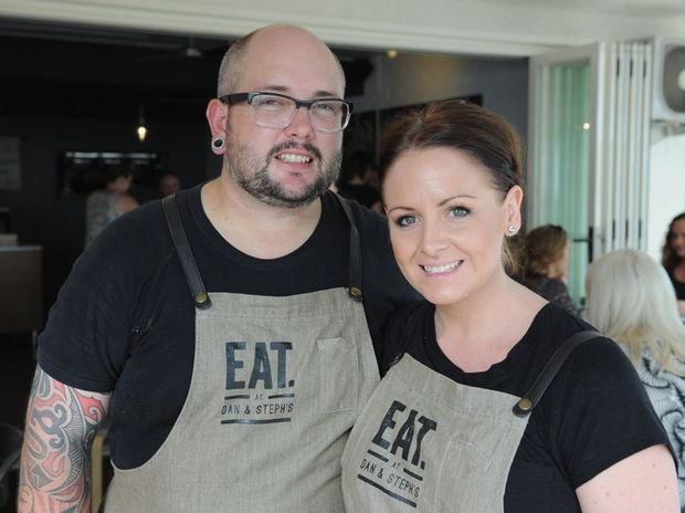 Dan and Steph Mulheron from Eat at Dan & Steph's on the Esplanade at Torquay.