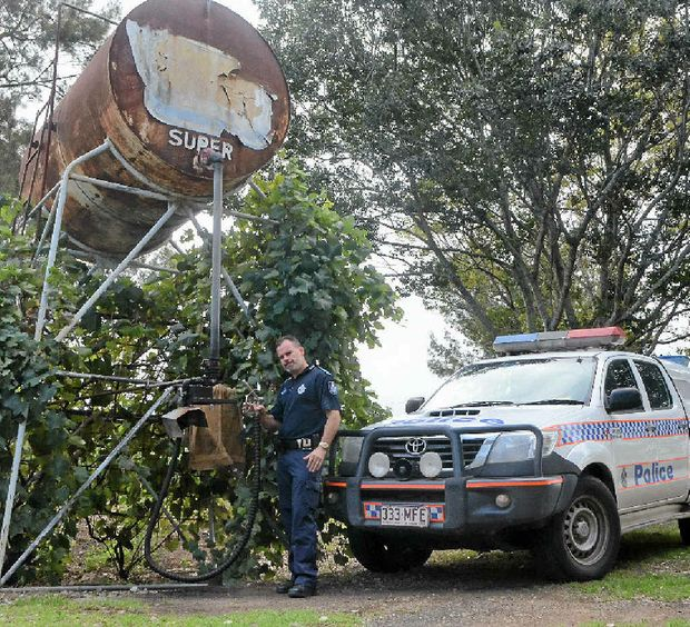 LOCK IT: Sergeant David Grave of Laidley Police is helping to combat diesel theft in the Valley.