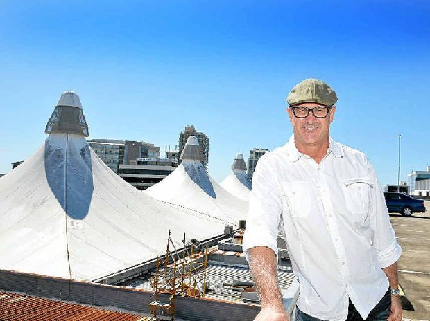 NEW LEASE OF LIFE: Reed Property Group's Ross Webb says the iconic Big Top roof will return better than ever.