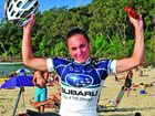 CHAMPION triathlete Emma Carney takes a breather to enjoy Noosa's Main Beach in the lead-up to this weekend's Noosa Ultimate Sports Fest.