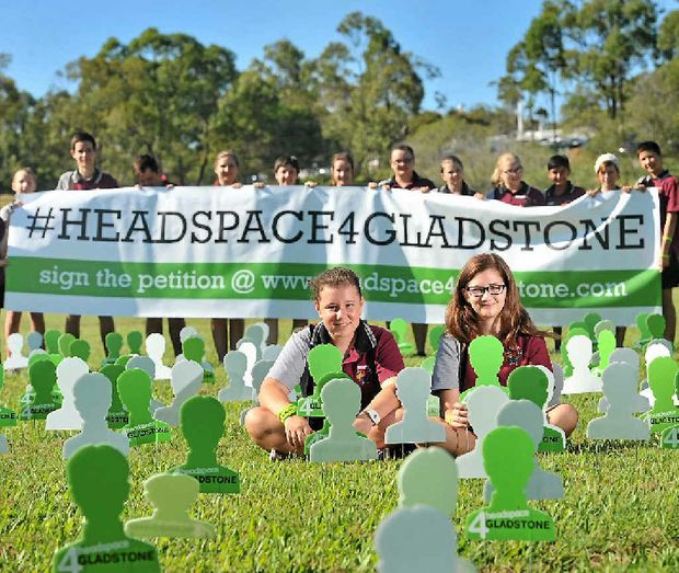Toolooa State High School students Asha Carlyon, 13, and Mikalah Howard, 13, are among those who support having a Headspace centre in Gladstone.