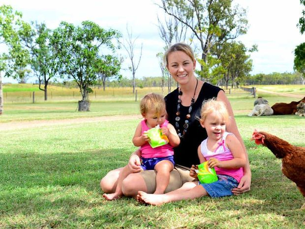SAFE NIP: Krystal Caton and her daughters give her new Zestio pouch products one final taste test before giving them the seal of approval.