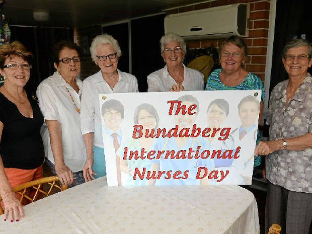 CELEBRATE NURSES: The Bundaberg International Nurses Day committee members Judy Dalton, Shirley Kidd, Margaret Olsen, Dos Evans, Shirley Gastaldon and Janet Tallon are encouraging all nurses to register for the event on May 8.