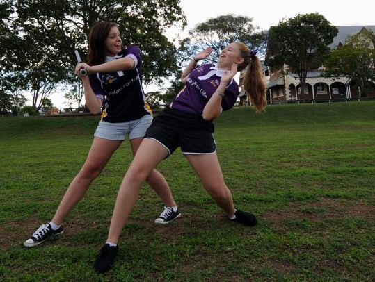 Touch n Go members Erin Rodgers and Kelsey Elliott will take the force with them to this year's Star Wars-themed Relay For Life at the Maryborough Showgrounds on May 3 and 4.