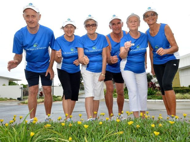 Halcyon Landing Bli Bli residents John Martin, Di Martin, Colleen Watts, Tony Giles, Judith Smith and Beryl Giles will be taking part in the Sunshine Coast Marathon Festival. Photo: Warren Lynam / Sunshine Coast Daily