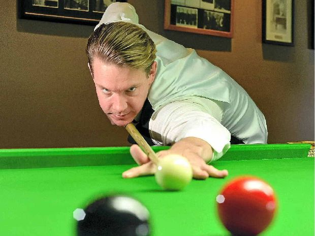 ON CUE: Steve Donohoe keeps his eye in with almost daily practice sessions on Maroochy RSL's snooker tables.