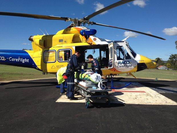 RACQ CareFlight airlifts man from Kingaroy speedway Photo Contributed