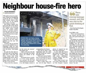 ABOVE: How the Northern Star reported on Rod Halpin's quick response.