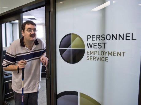 Rohan Pidgeon, a person with a disability looking for work. Photo Nev Madsen / The Chronicle