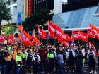 Workers down tools for CFMEU rally against Labour Day change