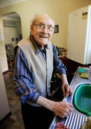 Rupert Cliff will be turning 105 next week. Photo: Rob Williams / The Queensland Times