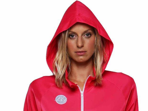 Laura Geitz in her fashionable new sports range.