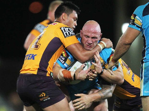 TIRELESS PERFORMER: Titans prop Luke Bailey is repaying the Gold Coast club's faith.