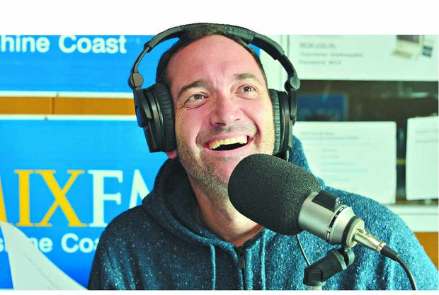 LOVING IT: Darren Percival has been working with Caroline Hutchinson at MIX FM as a radio host.